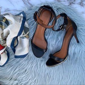 Givenchy Nadia Leather Ankle Strap Sandal Black